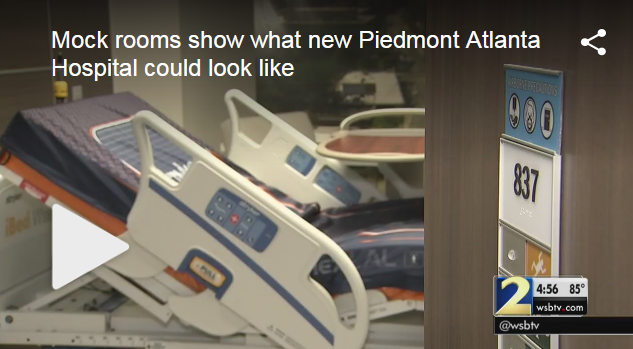 New Piedmont Atlanta Hospital Rooms Revealed