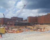 The pit for the new Piedmont Hospital