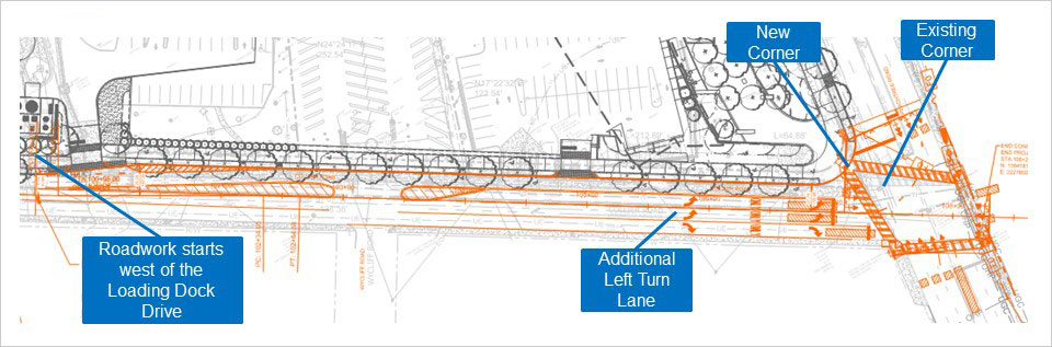 Blueprint of Collie Road & Peachtree Road